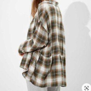 NWT - American Eagle Flannel Babydoll Shirt - SZ XL